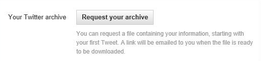 Request for Tweets Archive